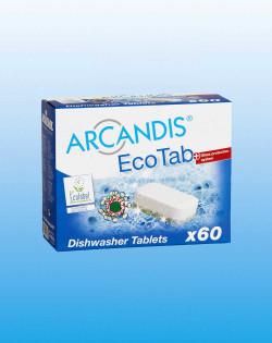 Средство для мытья посуды в таблетках, бесфосфатное ARCANDIS-EcoTab, 60 таблеток в упаковке