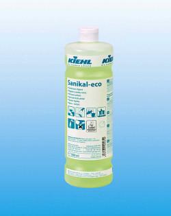 Щелочное средство для ежедневной уборки санитарных помещений Sanikal-eco, 1 л